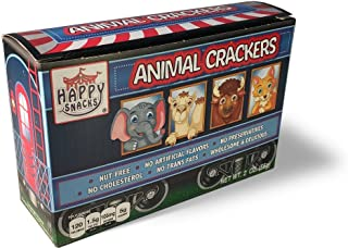 Happy Snacks Natural, Wholesome Animal Crackers, 2 Ounce Boxes (Pack of 12)