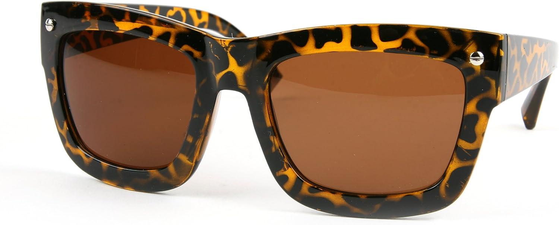 Fashion Wayfarer Vintage Retro Style Sunglasses P2103 (Tortoise-Brown Lens) : Clothing, Shoes & Jewelry