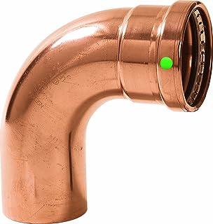 Viega 20643 ProPress Zero Lead Copper XL-C 90-Degree Elbow with 3-Inch FTG x P