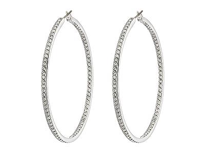 Swarovski Rare Hoop Pierced Earrings (Silver) Earring