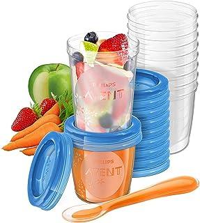 Philips Avent - Juego de recipientes para comida de bebé (