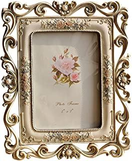 Gift Garden Vintage Picture Frame 5 by 7 Inch Hollow up for Photo 5x7