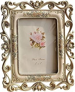 Gift Garden Vintage Picture Frame 5×7 for Wedding Family Photos Desktop Vertically..