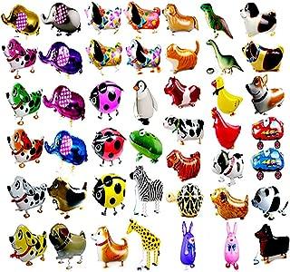 CUGBO 20Pcs Set Walking Animals Balloons, Pets Air Walker Balloons, Mylar Foil Helium Aluminum Balloon Kit for Kids Birthday Party Baby Shower Decor Children Gift