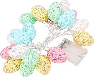 Konsait 10FT 20Lights Easter Decoration Easter Eggs Lights,Easter String Lights Battery Operated Decoration Fairy String L...
