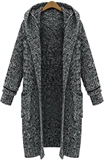 AOMEI Oversized Long Cardigans Sweater for Women with Pockets and Hood