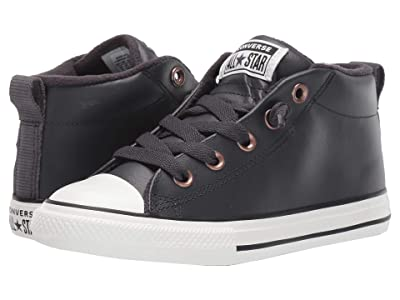 Converse Kids Chuck Taylor(r) All-Star(r) Street Red Rover Mid (Little Kid/Big Kid) (Almost Black/Blue/Black) Boys Shoes