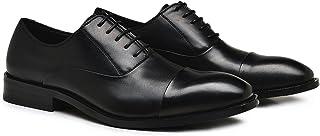 [Aisxle] ビジネスシューズ 紳士靴 本革 耐久性 メンズ ストレートチップ レースアップ スタイリッシュ ハンサム ブラック