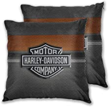 Soft Decorative Square Throw Pillow Covers Harley David-Son Logo Cushion Cases Pillowcases for Sofa Bedroom Car No Pillow ...