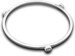 vhbw Anillo giratorio, anillo de accionamiento 18.5 cm universal para microondas compatible con Bosch, Siemens, AEG, Severin, etc