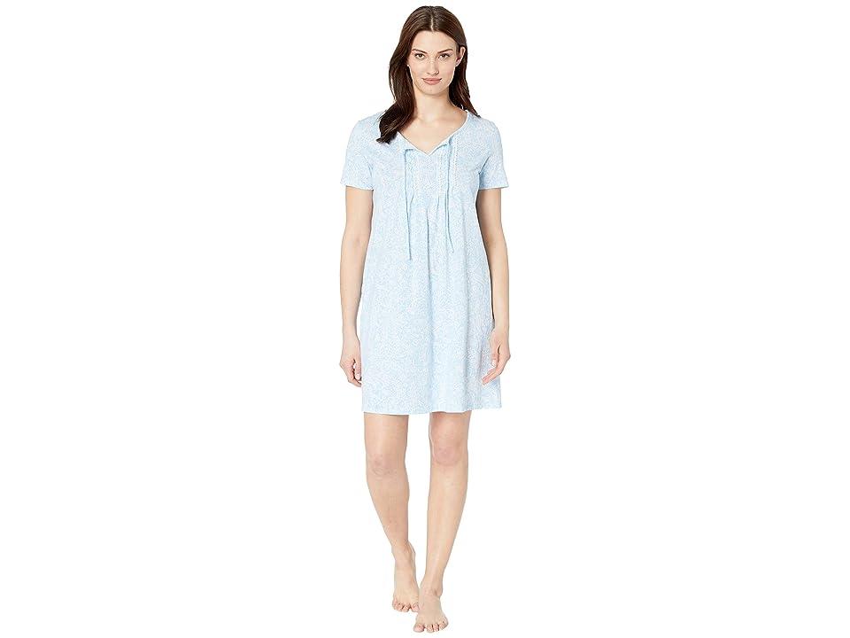 Carole Hochman Short Gown CH21701 (Blue Paisley) Women
