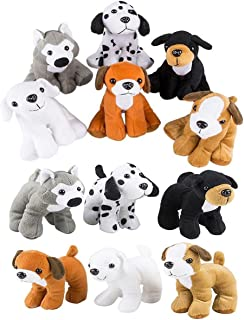 4E's Novelty Stuffed Plush Soft Dogs Animals Puppies Bulk Party Favor, Large Stuffed Animals Assortment, 6 inches, Pack of...