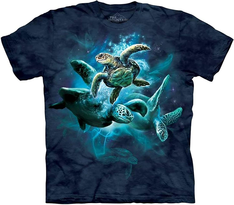 The Dallas Mall Mountain Sea Turtle Collage Tee M-XXX Shirt Adult Child S-XL mart