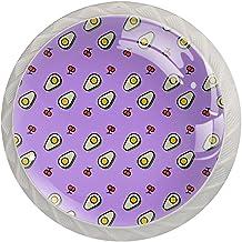 Lade knoppen ronde kristallen glazen kast handgrepen Pull 4 Pcs,Avacado kersen