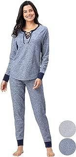 Cotton Pajamas Women - PJ Sets for Women, Slub Knit