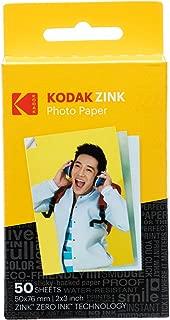 Kodak 2ʺx3ʺ Premium Zink Photo Paper (50 Sheets) Compatible with KODAK Smile and PRINTOMATIC (NOT with Kodak Mini Shot, Mini2)