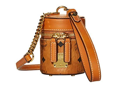 MCM Cylinder Visetos Crossbody X Mini (Cognac) Bags