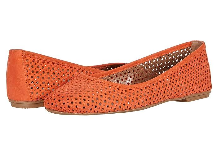 French Sole  League (Orange Nubuk) Womens Flat Shoes