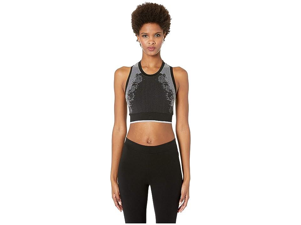 Kate Spade New York Athleisure Heart It Floral Jacquard Sports Bra (Black) Women