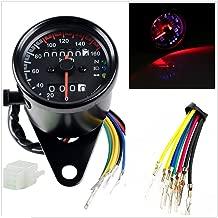 DLLL Universal Motorcycle 12V Dual Odometer Speedometer Gauge LED Backlight Turn Signal Lamp Kit for ATV Honda Yamaha Suzuki Harley Kawasaki Cruisers Harley