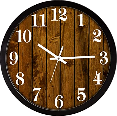 RAG28 Wall Clock - Sweep/Silent Movement - Black Frame - Size 14 Inch (15126)