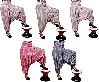 100pcs Striped Design Trouser Baggy Genie Harem Pants Boho Hippie Gypsy India Wholesale Lot (Multi-100Pcs)