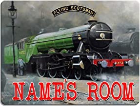 Flying Scotsman Train Cast Iron Garage Man Cave Wall Sign Shed Bar Pub Railway