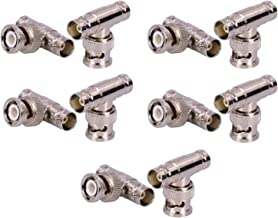 Maxmoral BNC Male to Dual BNC Female Adapter, 3 Way Splitter Adapter Jack Connector,Coaxial Surveillance Equipment, for CCTV Cameras