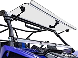 SuperATV Heavy Duty Scratch Resistant 3-IN-1 Flip Windshield for Yamaha YXZ (2019+) - Hard Coated for Extreme Durability and Long Life - Easy to Install!