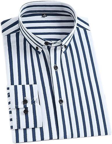 Outwears - Camisa de vestir de rayas para hombre, con ...