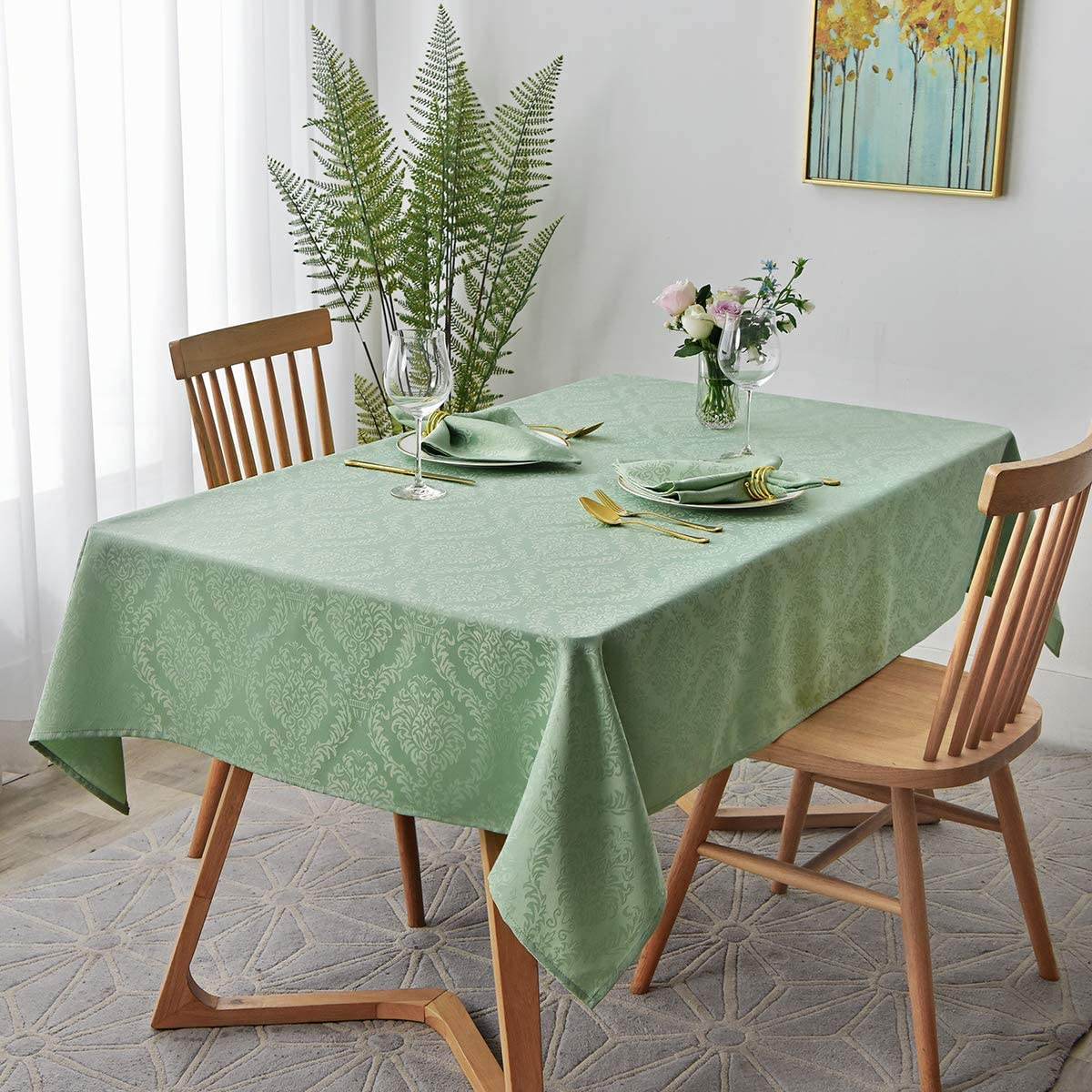 2021 autumn and winter new maxmill Jacquard Las Vegas Mall Tablecloth Damask Antiw Water Design Resistance