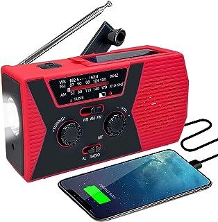 Emergency Radio, Hand Crank Solar Powered NOAA Weather Radios, Frebw 2000mAh Radio with Flashlight Reading Lamp Portable R...