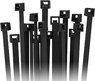 200 Fascette per cavi Set 3,6 x 300 mm Nero Professionale Resistente ai raggi UV Fascette Per Cavi Set