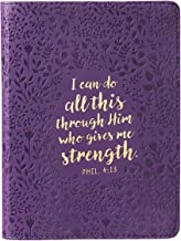 Christian Art Gifts Purple Faux Leather Journal w/Ribbon | All This Through Him Philippians 4:13 Bible Verse | Handy-sized Flexcover Inspirational … w/240 Lined Pages, Gilt Edges, 5.5 x 7 Inches PDF