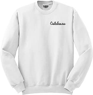 FASHIONISGREAT Calabasas CA Script Chest Crewneck Sweatshirt