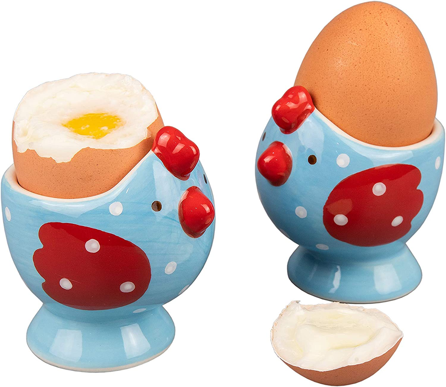 WD - 2 Pcs Cute Chicken Shape Today's only cu egg boiled or Hard Ceramic soft Excellent
