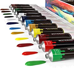 GOTIDEAL Acrylic Paint Set, 12 Colors/Tubes(23ml, 0.77 oz) Non Toxic Non Fading,Rich Pigments for Artist, Hobby Painters, Adults & Kids, Ideal for Canvas Wood Clay Fabric Ceramic Crafts