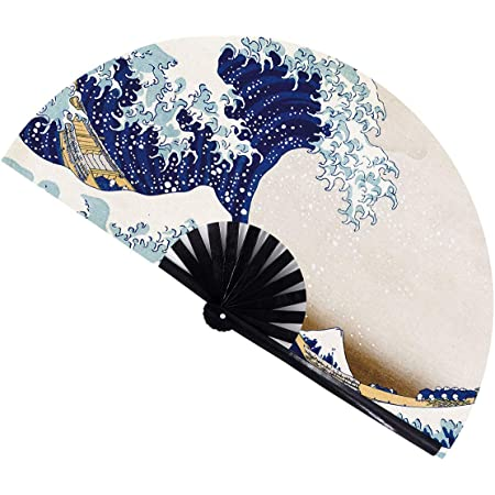 """Prosperity Blossoms Hand Painted Oriental Decor 1 XLarge 60/"""" Folding Wall Fan"""