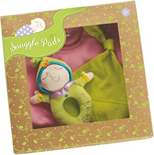 Manhattan Toy Snuggle Pods Onesie Gift Set, Sweet Pea Pink