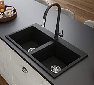 Black Kitchen Sink Lavello Elle 200T 32