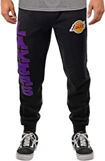 Ultra Game Men's NBA Jogger Pants Active Basic Soft Terry Sweatpants VSF5166M, Los Angeles Lakers, Team Color, Large