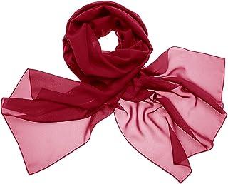 DRESSTELLS Damen Chiffon Stola Schal Seide Langschal für Abendkleid oder Brautkleid
