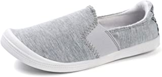 Women's Canvas Slip On Shoes Casual Flats Comfort Sneakers