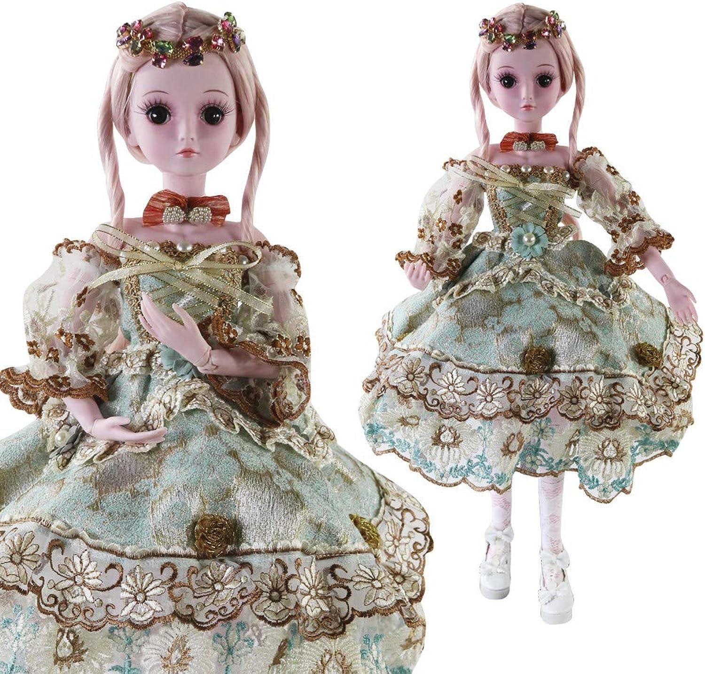 LCLrute Lifelike Reborn Baby Doll 55cm Newborn Doll Kids Boy BJD Doll SD Doll 60cm 24inch Stewardess Uniform Doll for Girl Collection Gifts (G)