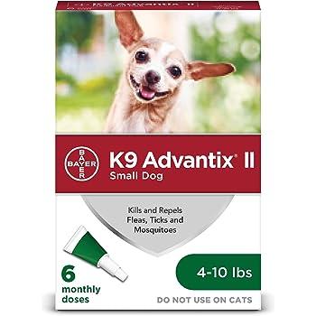 K9 Advantix II Flea, Tick and Mosquito Prevention for Small Dogs, 4-10 lbs