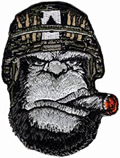 Ape Victory Cigar Embroidered 3 inch Morale Hook Patch