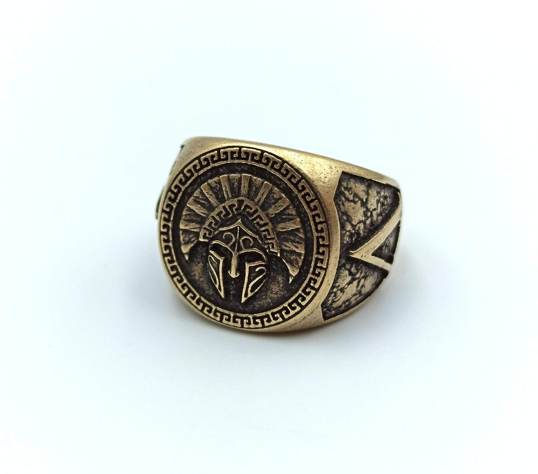 Spartan Mail Product order helmet ring Greek jewelry custom Handmade rings for men