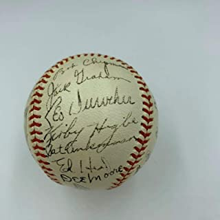Stunning 1943 Brooklyn Dodgers Team Signed Baseball Arky Vaughan Joe Medwick - JSA Certified - Autographed Baseballs