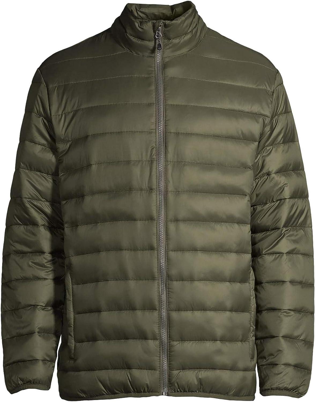 Men's Puffer Jacket (Green, Small 34/36)