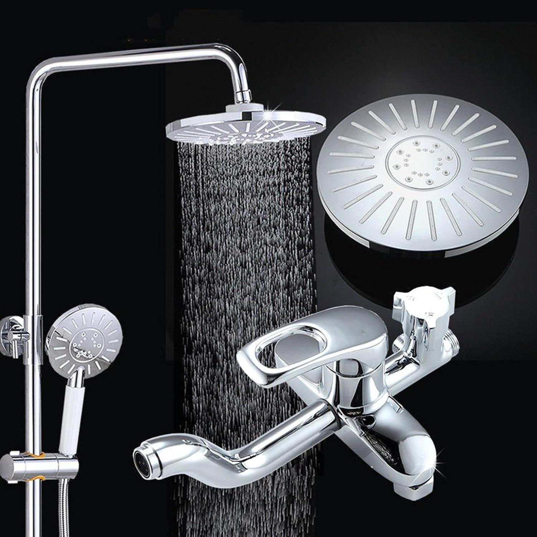 Gyps Faucet Basin Mixer Tap Waterfall Faucet Antique Bathroom Mixer Bar Mixer Shower Set Tap antique bathroom faucet Rain shower, hot and cold pack large shower kit copper shower column faucet thermos